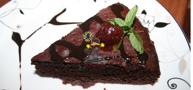 Kakaolu Islak Kek Resimli