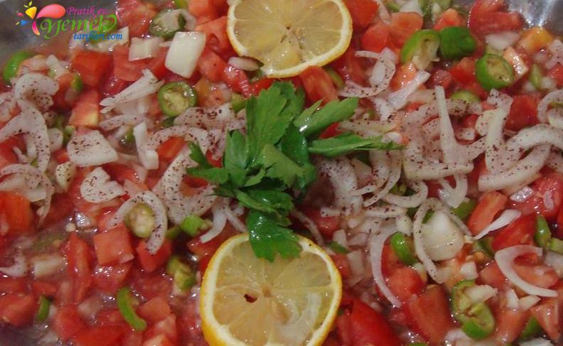 domatesli soğan salatası