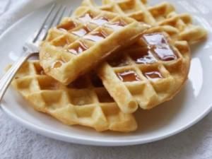 waffle kek sunumu