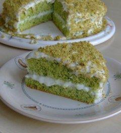 ıspanaklı yeşil pasta