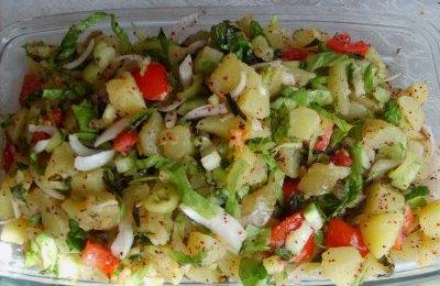 Patates Salata Tarifleri Resimli
