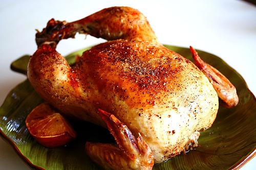 Fırındabütün  tavuk