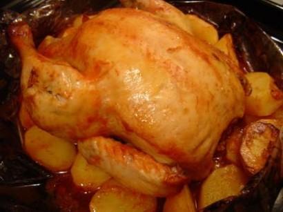 Fırında Bütün Tavuk 3