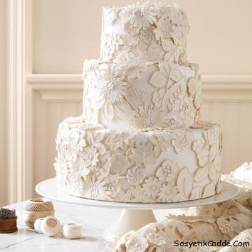 Birbirinden Güzel 12 Düğün Pastası Modeli 10