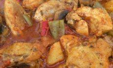 Sacda Tavuklu Yemek