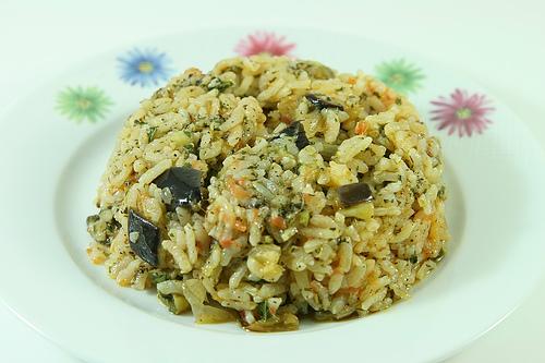 Taze Patlıcanlı Pilav Tarifi 2