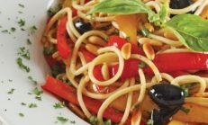 Sebzeli Spagetti