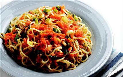 Sebzeli Spagetti 4
