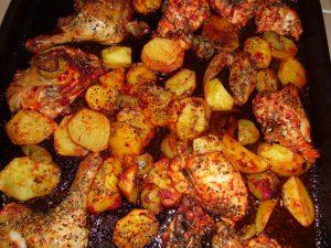 Fırında Sebzeli Tavuk Yapımı