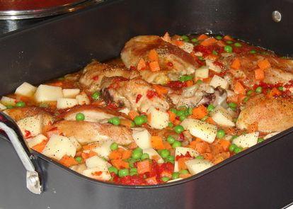 Fırında Sebzeli Tavuk Tarifi 1