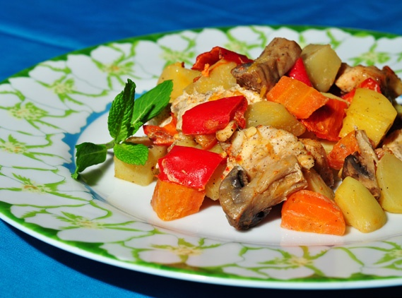 Fırında Sebzeli Tavuk Tarifi 3