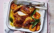 Fırında Zerdeçallı Tavuk